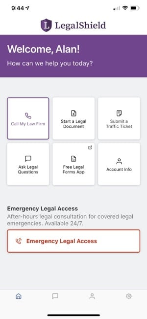 legalshield- legal protection mobile app