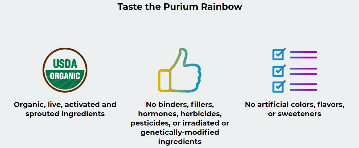 taste the purium rainbow