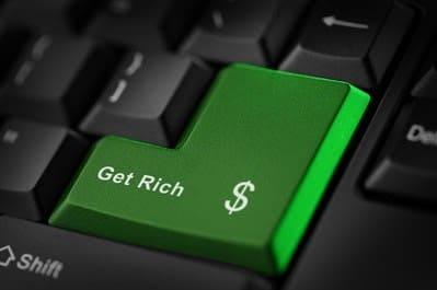 Get Rich green enter button on computer keyboard.