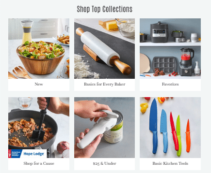 Pampered Chef products.