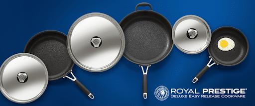 Royal Prestige deluxe easy release cookware.