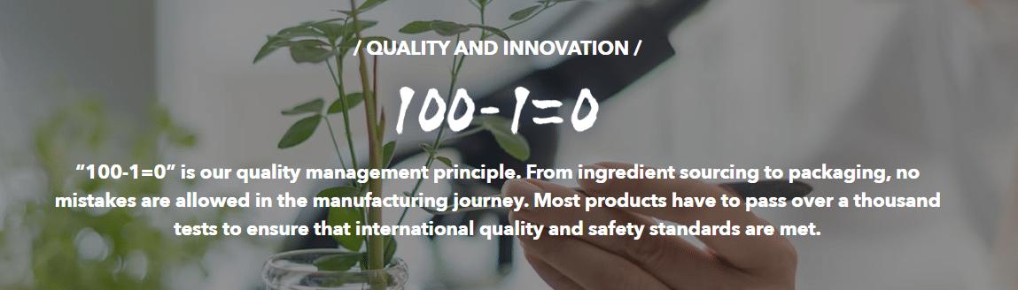 Infinitus Product Quality