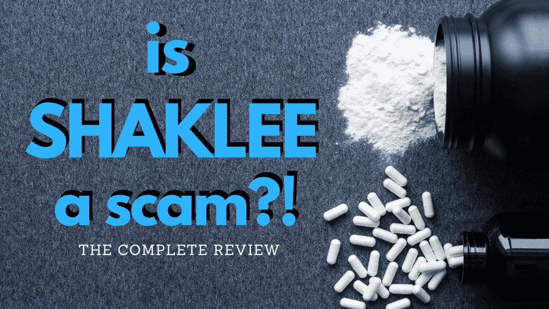 Is Shaklee a scam the complete review and picture of black pill and powder bottle spilled.