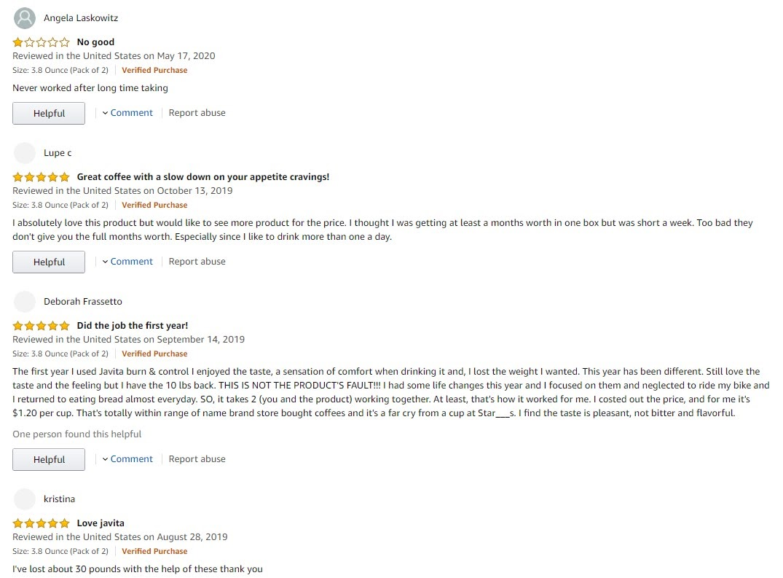 Javita Amazon Reviews