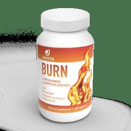 Javita burn supplement bottle.
