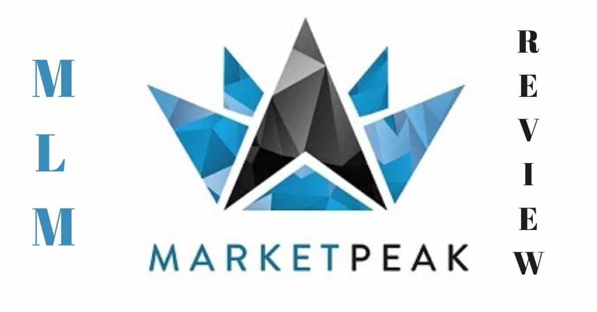 MarketPeak logo with the words mlm and review.
